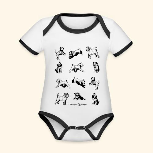 Brussels Griffon pattern - Body Bébé bio contrasté manches courtes