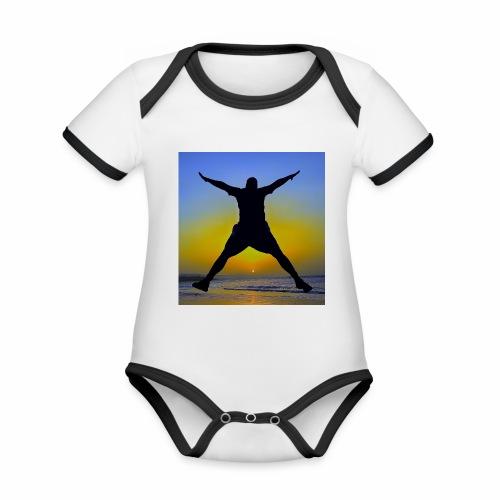 Sunset Beach 3 - Baby Bio-Kurzarm-Kontrastbody