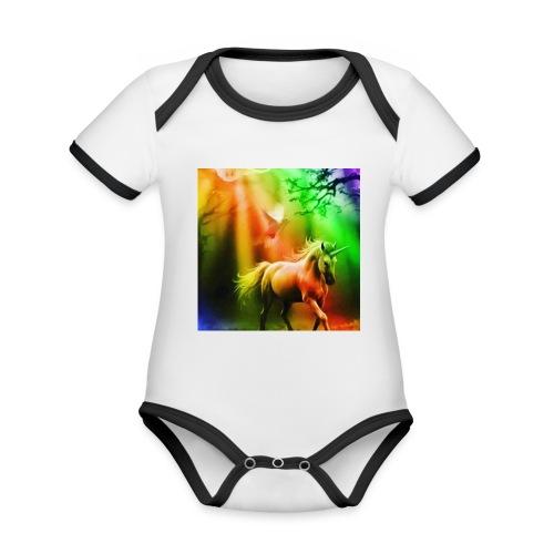SASSY UNICORN - Organic Baby Contrasting Bodysuit