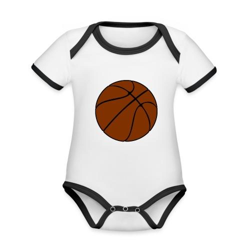 Basketball - Baby Bio-Kurzarm-Kontrastbody