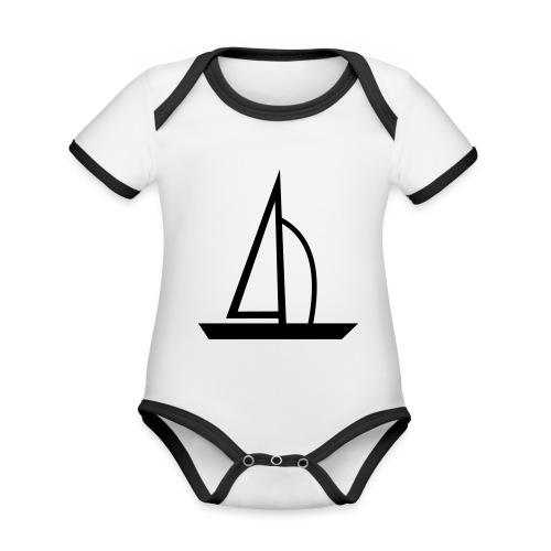 Segelboot - Baby Bio-Kurzarm-Kontrastbody