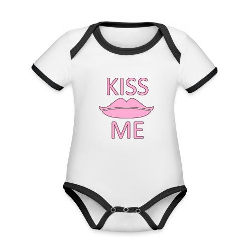 Kiss Me - Baby Bio-Kurzarm-Kontrastbody
