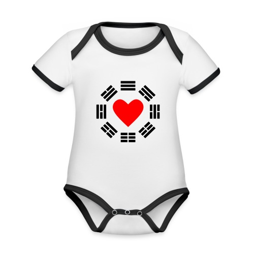 Trigram Heart - Baby Bio-Kurzarm-Kontrastbody