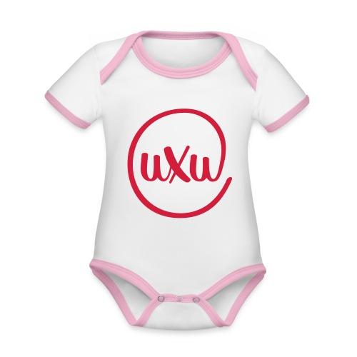UXU logo round - Organic Baby Contrasting Bodysuit