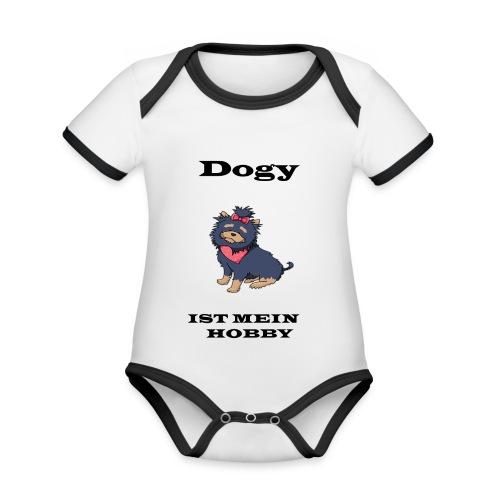 Hund - Baby Bio-Kurzarm-Kontrastbody