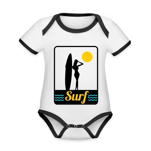 Surf - Body Bébé bio contrasté manches courtes