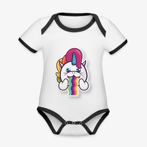 Funny Unicorn - Organic Baby Contrasting Bodysuit