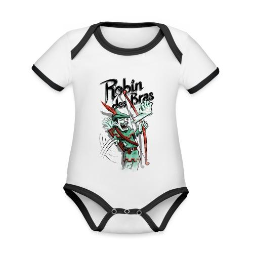 Robin des Bras - Organic Baby Contrasting Bodysuit