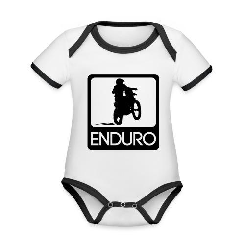 Enduro Rider - Baby Bio-Kurzarm-Kontrastbody