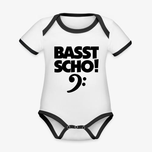 BASST SCHO! Bass Design für Bassisten - Baby Bio-Kurzarm-Kontrastbody