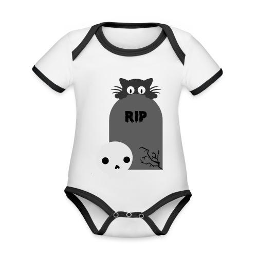 Dark But Cute - Organic Baby Contrasting Bodysuit