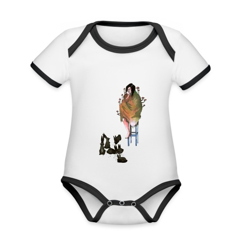 home alone - Organic Baby Contrasting Bodysuit