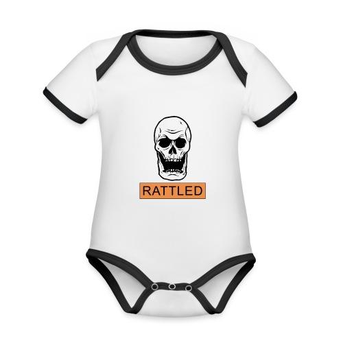 Rattled Spooky Halloween Skeleton Meme - Organic Baby Contrasting Bodysuit