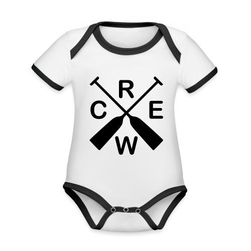 Drachenboot Crew - Baby Bio-Kurzarm-Kontrastbody