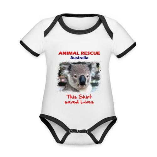 Australien KOALA RESCUE - Spendenaktion - Baby Bio-Kurzarm-Kontrastbody
