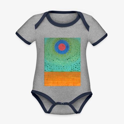 Noc Nad Pustynią - Ekologiczne body niemowlęce z krótkim rękawem i kontrastowymi lamówkami