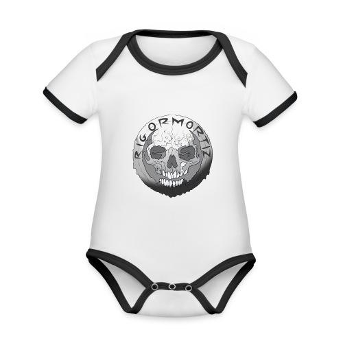 Rigormortiz Black and White Design - Organic Baby Contrasting Bodysuit