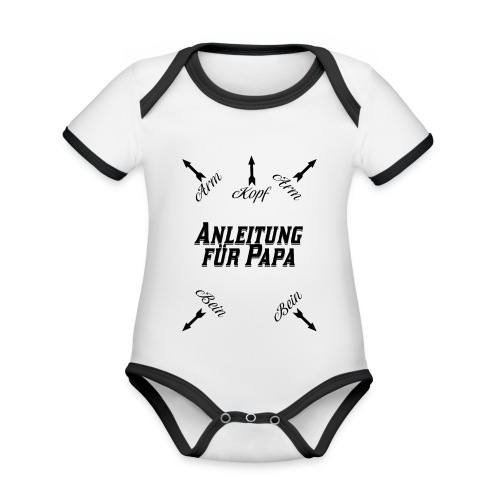 Anleitung für Papa Baby Geschenk - Baby Bio-Kurzarm-Kontrastbody