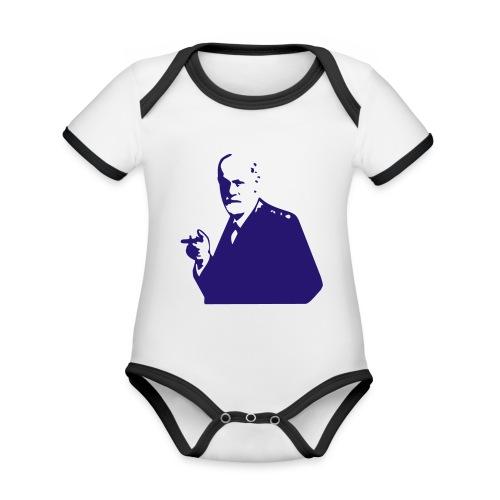 sigmund freud - Organic Baby Contrasting Bodysuit