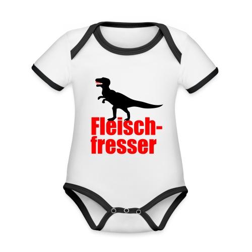 Fleischfresser - Baby Bio-Kurzarm-Kontrastbody