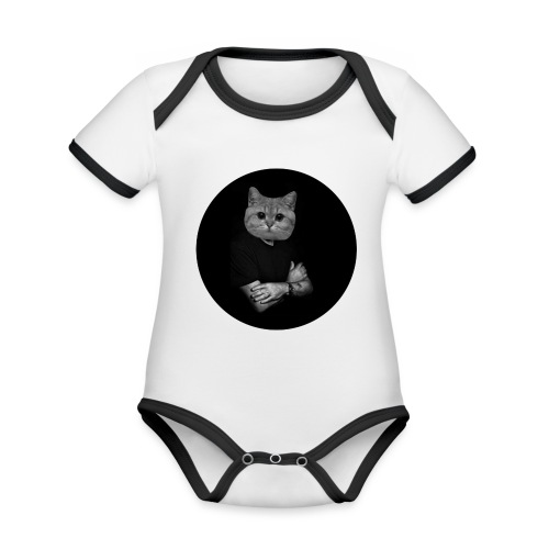 Starecat Co ja pacze - Ekologiczne body niemowlęce z krótkim rękawem i kontrastowymi lamówkami