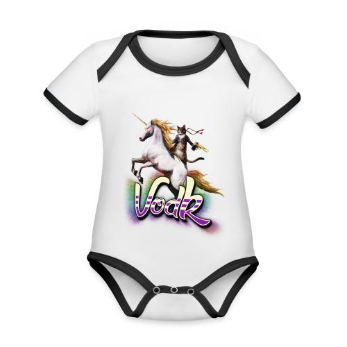 VodK licorne png - Body Bébé bio contrasté manches courtes
