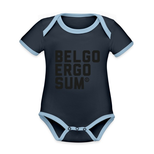 Belgo Ergo Sum - Organic Baby Contrasting Bodysuit