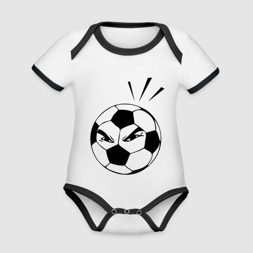 energischer Fußball - Baby Bio-Kurzarm-Kontrastbody