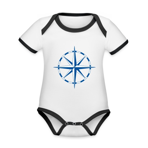 Windrose - Baby Bio-Kurzarm-Kontrastbody