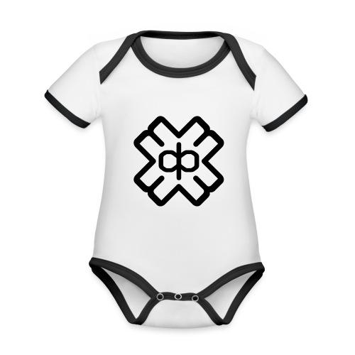d3ep logo black png - Organic Baby Contrasting Bodysuit
