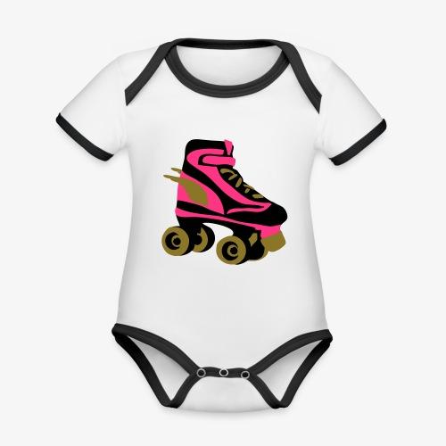 roller skate wings by patjila - Organic Baby Contrasting Bodysuit