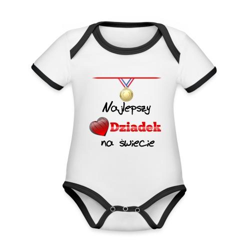 nadruk_rodzinne_01 - Ekologiczne body niemowlęce z krótkim rękawem i kontrastowymi lamówkami
