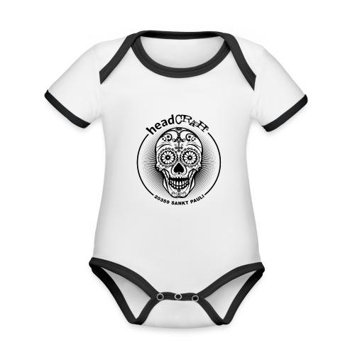 hC logoII star - Baby Bio-Kurzarm-Kontrastbody
