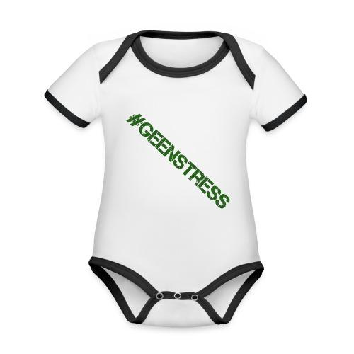 geen stress gif - Baby contrasterend bio-rompertje met korte mouwen