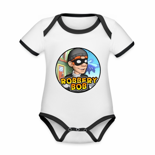 Robbery Bob Button - Organic Baby Contrasting Bodysuit