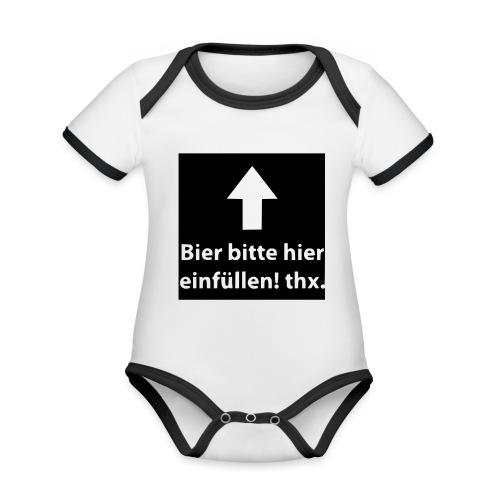einfüllen1 - Baby Bio-Kurzarm-Kontrastbody
