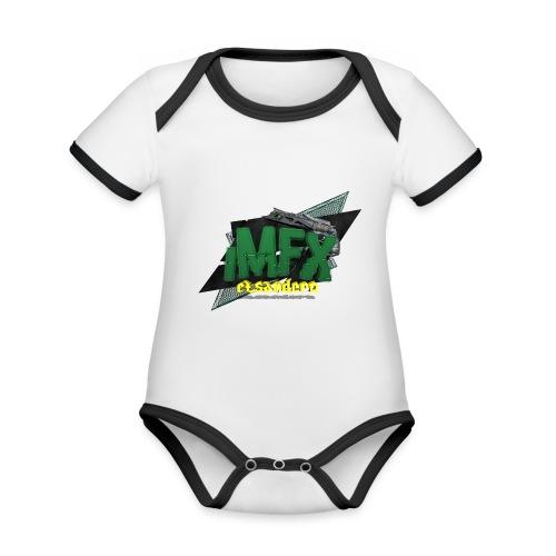 [*iMfx] elsandero - Body da neonato a manica corta, ecologico e in contrasto cromatico