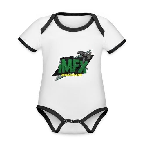 [iMfx] paolocadoni98 - Body da neonato a manica corta, ecologico e in contrasto cromatico