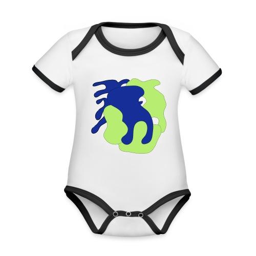 Macchie_di_colore-ai - Body da neonato a manica corta, ecologico e in contrasto cromatico