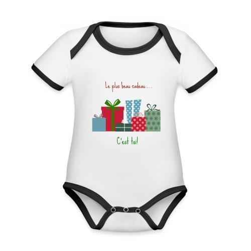Le plus beau cadeau - Body Bébé bio contrasté manches courtes