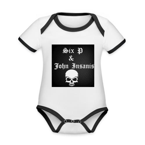 Six P & John Insanis SKULL Paita - Vauvan kontrastivärinen, lyhythihainen luomu-body