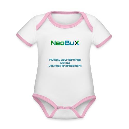 NeoBuX Blue - Organic Baby Contrasting Bodysuit