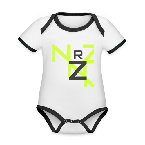 Nörthstat Group™ Clear Transparent Main Logo - Organic Baby Contrasting Bodysuit
