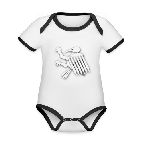 Nörthstat Group ™ White Alaeagle - Organic Baby Contrasting Bodysuit