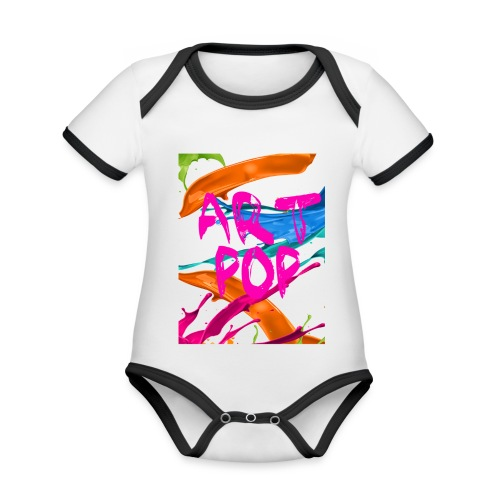 ART POP Carcasa móvil - Body contraste para bebé de tejido orgánico