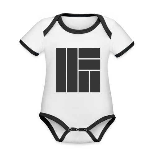 NÖRCup Black Iconic Edition - Organic Baby Contrasting Bodysuit