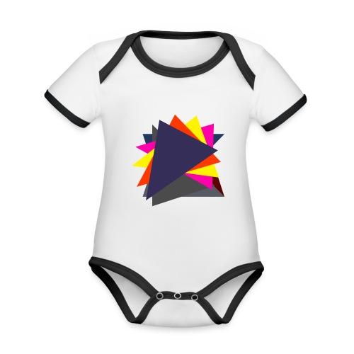 art triangle - Ekologiczne body niemowlęce z krótkim rękawem i kontrastowymi lamówkami