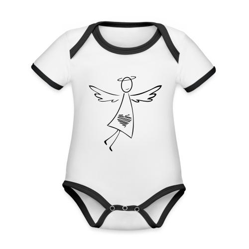 Engel - Baby Bio-Kurzarm-Kontrastbody