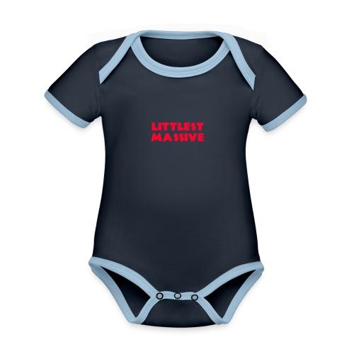 littlest-massive - Organic Baby Contrasting Bodysuit