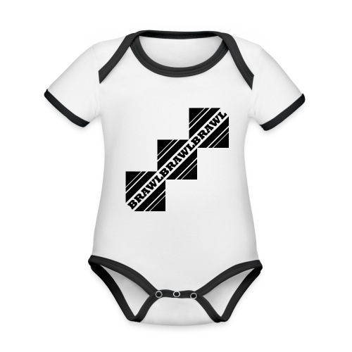 BRAWL TEST - Baby contrasterend bio-rompertje met korte mouwen